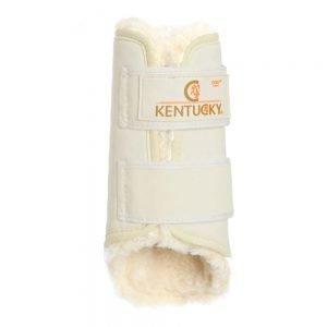 Kentucky beschermers leder voorbenen wit